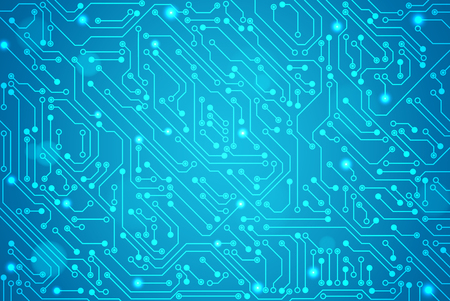 Abstract technology circuit board, Vector background. Vectores