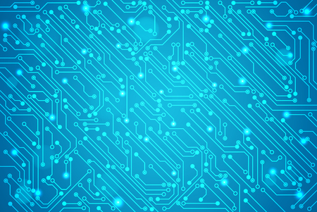 Abstract technology circuit board, Vector background. Stock Illustratie