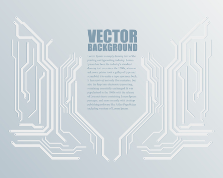 Abstract Technology Background, Vector Illustration.