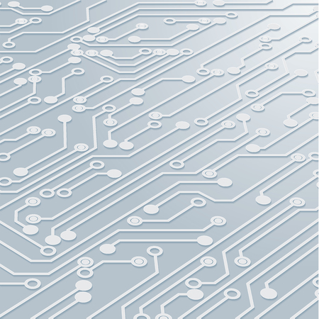 Circuit Board Background Texture,Vector Illustration. Vettoriali