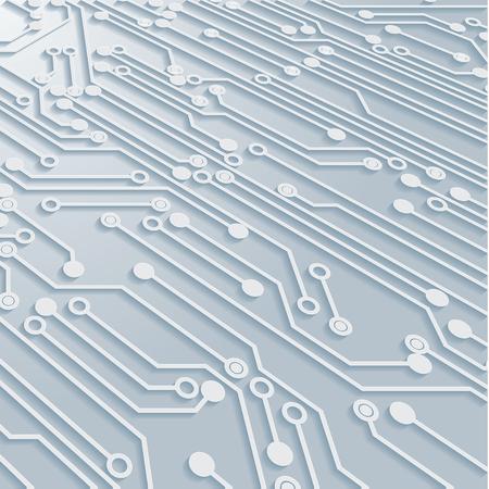 Circuit Board Background Texture,Vector Illustration. Vectores