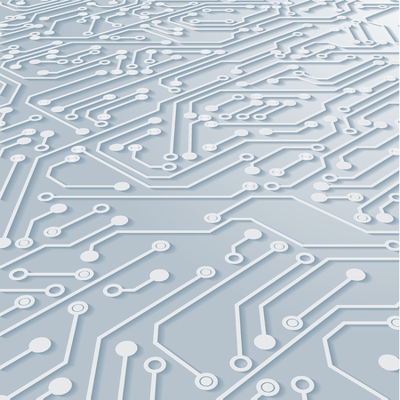 Circuit Board Background Texture,Vector Illustration. Illustration