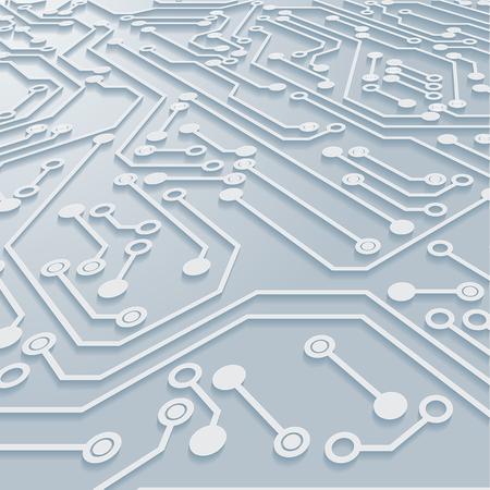 Circuit Board Background Texture,Vector Illustration. Stock Illustratie
