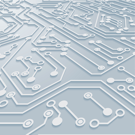 Circuit Board Background Texture,Vector Illustration. Vectores
