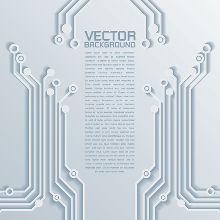 3d Circuit Board Background Texture Vector Illustration