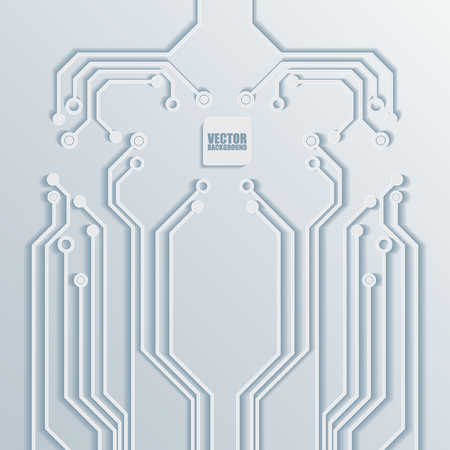 3d Circuit Board Background Texture Vector Vectores