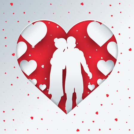 Couple in Love Concept of Valentines day Ilustracja