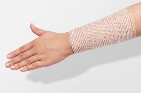 forearm: Bandage on forearm