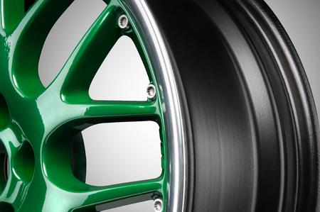 Green lichtmetalen velg