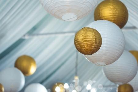brothel: paper lanterns Stock Photo