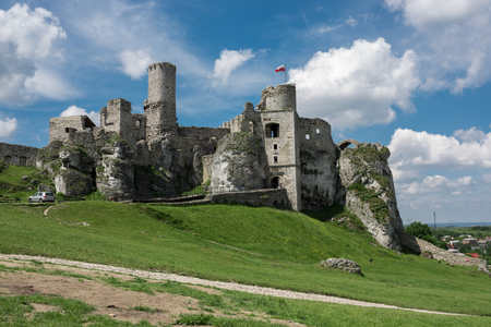Photography of Ogrodzieniec Castle ruins at sunny summer day, Poland May 2017 Ogrodzieniec City. Lizenzfreie Bilder