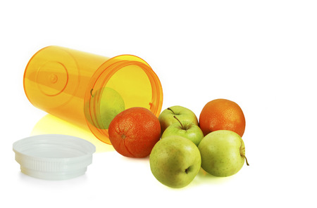 Fruit falling out of a prescription medicine container