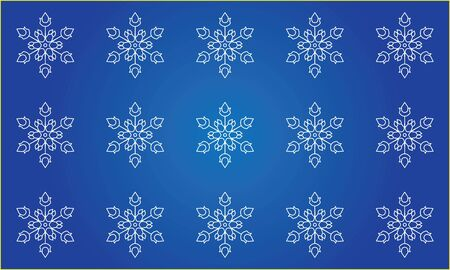 iceflower: Seamless snowflakes background Illustration