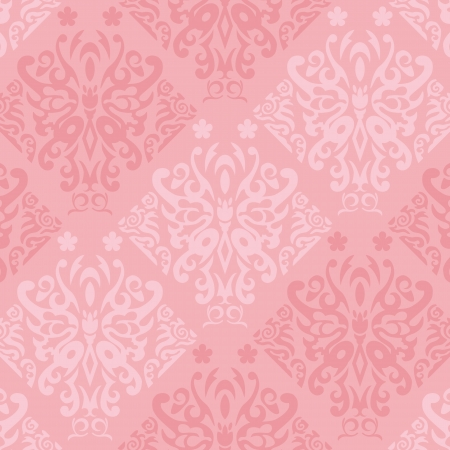 Seamless Pink Butterfly Wallpaper Vector Stock Vector - 17044202