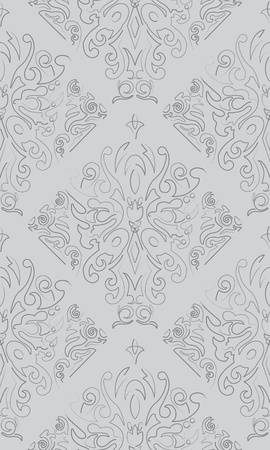 Seamless Gray Butterfly Pattern  Chalk Charcoal Pencil Vector Stock Vector - 17044205