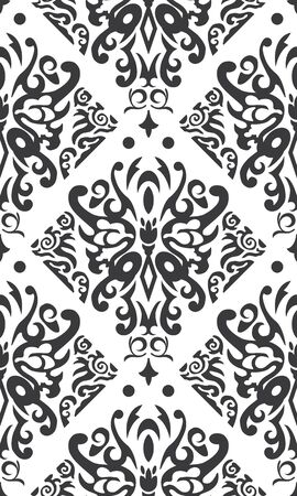 Seamless Butterfly Pattern Black   White Vector Vector
