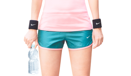 Sports woman with nike clothes