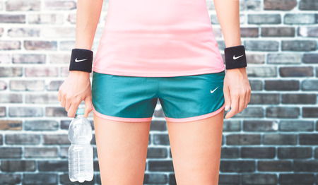 Nike, sports wear, fitness woman