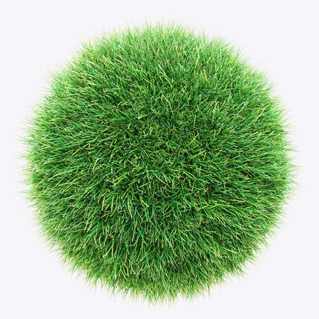 Green grass, lawn, earth 3d