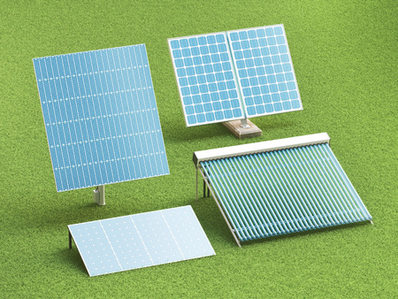 Pannelli solari per energia verde Archivio Fotografico - 83131952