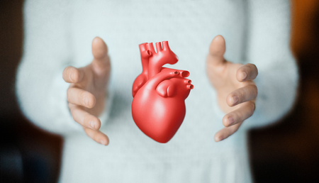 Hands with heart, health or love