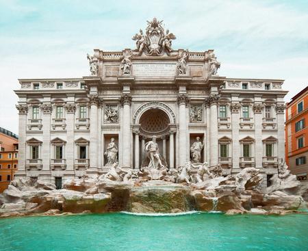 Trevi's fountain in Rome, Italy