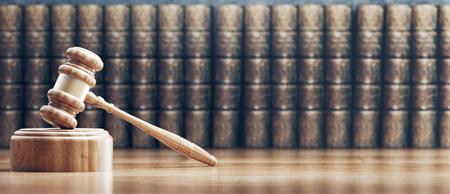 Judges gavel, concept of law and justice, 3d render illustration