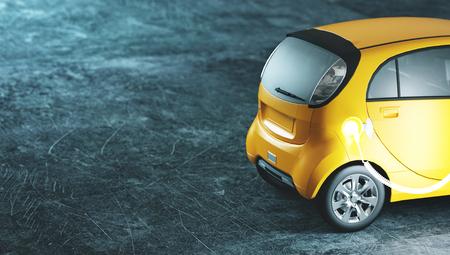 Electric car in charge, 3d render illustration Standard-Bild - 111368777