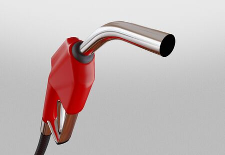 Diesel versus electric. Gas or electric station. 3d rendering