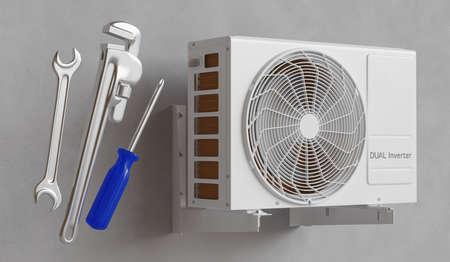Repairing domestic appliances, technical assistance. 3d rendering