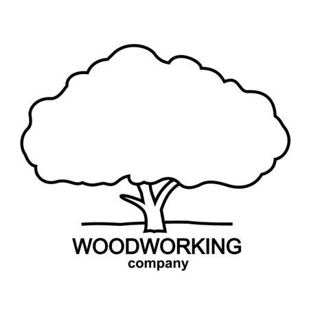 logotype of woodworking company, tree logo, wood logotype