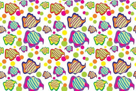color vector ice cream pattern