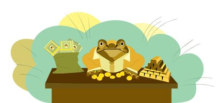 golden toad, toad clerk, toad with money