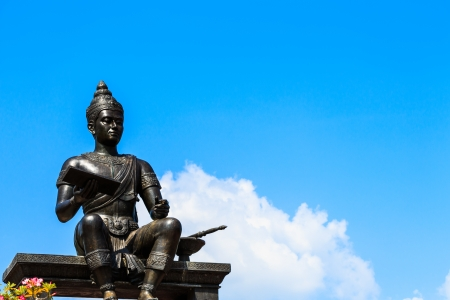 king ramkhamhaeng: The statue of King Ramkhamhaeng at Sukhothai ,Thailand