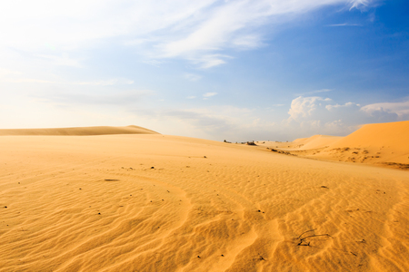 hillock: Wave on desert and blue sky at Mui Ne, South Vietnam
