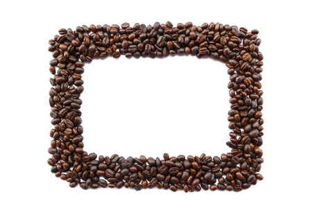 crop margin: Frame was created by coffee on white background  isolated