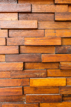 overlap: texture of old wooden wall and square wood overlap Stock Photo