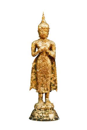an obeisance: Statue of buddha at thai temple ,Bangkok ,Thailand Stock Photo