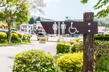 Toilet signboard at Japan photo