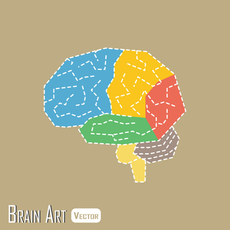 lobe: Brain anatomy ( frontal lobe , parietal lobe , temporal lobe , occipital lobe , cerebellum , brain stem ) Illustration