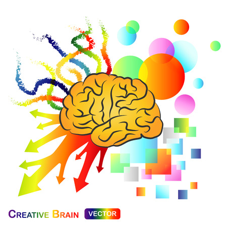 imagine a science: Creative  Abstract Brain Illustration