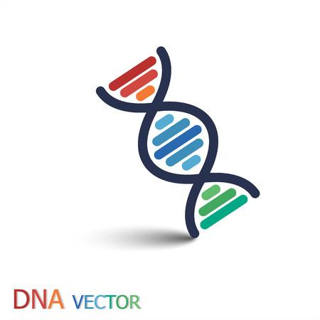 DNA (디옥시리보 핵산) 기호 (이중 가닥 DNA) 일러스트