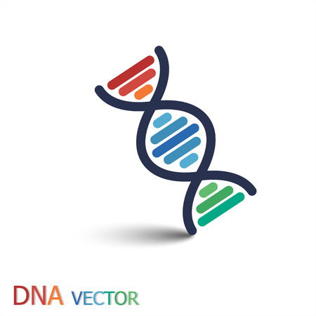 forensic science: DNA ( Deoxyribonucleic acid ) symbol  ( Double strand DNA )