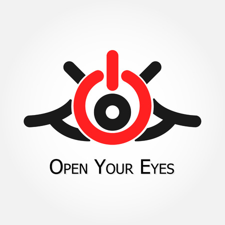 Open Your Eyes (turn on,off  symbol) Vector