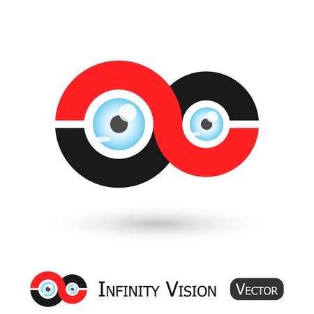 infinity sign: Infinity Vision ( Infinity sign and eyeball ) Illustration