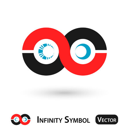 gray strip: Infinity symbol design