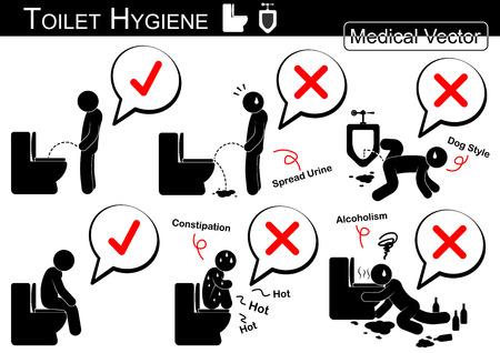 pictogramme: Toilettes Hygi�ne (homme vecteur de b�ton) Illustration