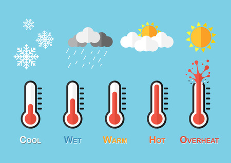 Weather Forecast ( Thermometer and Weather condition )