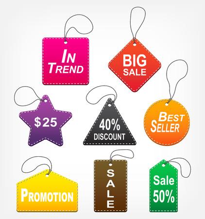 sale tags: Set of sale tags ( multicolor ) Illustration