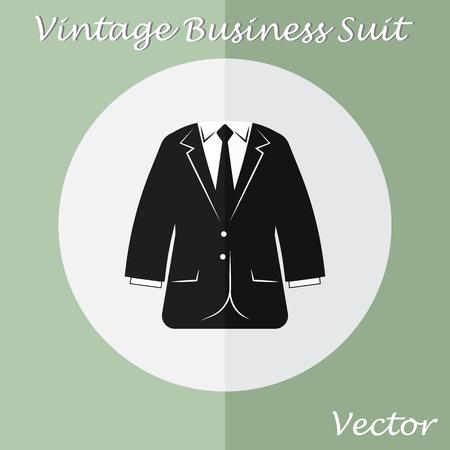 business suit: Vintage Business Suit ( or Tuxedo suit ) ( vintage style , flat design ) Illustration